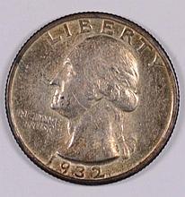 1932-S WASHINGTON QUARTER AU+