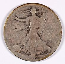 1921 WALKING LIBERTY HALF DOLLAR AG