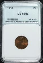 1916 LINCOLN CENT, NNC GRADED SUPERB GEM BU
