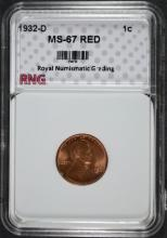 1932-D LINCOLN CENT, RNG SUPERB GEM BU RED