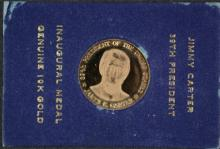 JIMMY CARTER 39th PRESIDENTIAL INAUGURAL 10KT GOLD MEDAL ( APPROX. 2.5 GRAMS