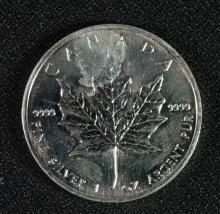 1997 CANADA MAPLE LEAF SILVER DOLLAR - UNC
