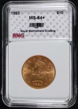 1893 $10 Liberty Head Gold Eagle RNG CH BU