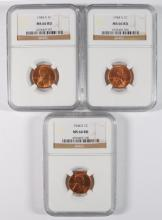 ( 3 ) 1944-S LINCOLN CENTS, NGC MS-66 RED NGC PRICE GUIDE=$37.00  EACH