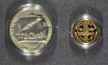 1987 CONSTITUTION  2-PIECE COMMEM PROOF SET: $5.00 GOLD & SILVER DOLLAR
