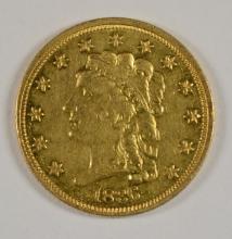 1836 $2.50 GOLD CHOICE AU