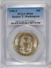 1950-S BOOKER T WASHINGTON PCGS MS66 PCGS PRICE GUIDE $150