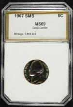 1967 SMS JEFFERSON NICKEL PCI SUPERB GEM+  DEEP CAMEO!  RARE!