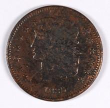 1835 HALF CENT (C-1, R-1) AG