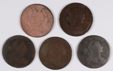 (5) 1803 LARGE CENTS