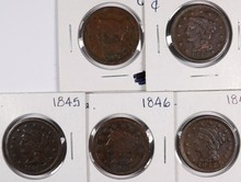 (5) LARGE CENTS (44, 45, 46, 47, 48)