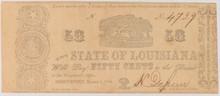 1864 50c  State of Louisana
