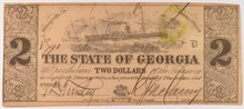 1864 $2 State of Georgia  CU