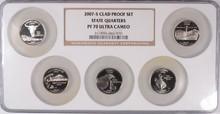 2007-S CLAD STATE GOOD QUARTER SET PF 70 UC NGC MULTI-HOLDER