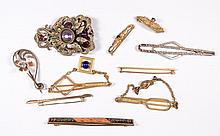 Vintage Lot of Victorian Bar Pins, Fabulous dress Clip and more.