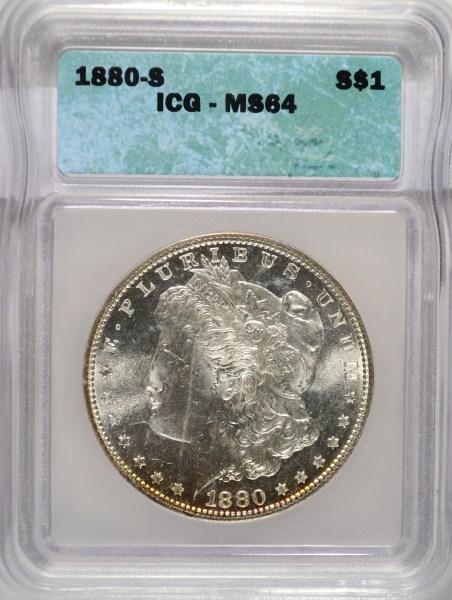 1880-S MORGAN DOLLAR ICG MS64