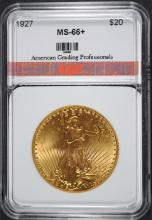 1927 $20.00 St Gaudens GOLD AGP SUPERB GEM