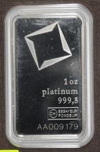 1 OZ PLATINUM BAR SUISSE VALCAMBI CERTIFIED WITH ASSAY COA! PLATINUM IS VERY,