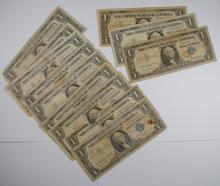 (86) LOW GRADE 1935/1957 $1 SILVER CERTIFICATES