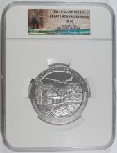 2014 (5 OZT .999 FS) GREAT SMOKEY MOUNTAINS NGC SP-70