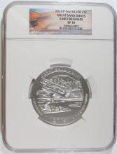 2014 (5 OZT .999 FS) GREAT SAND DUNES NGC SP-70 (EARLY RELEASE)