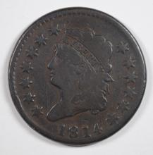 1814 LARGE CENT F/VF