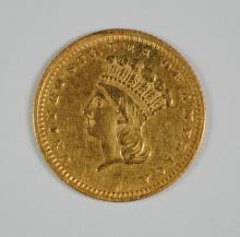 1873 CLOSED 3 $1 GOLD XF