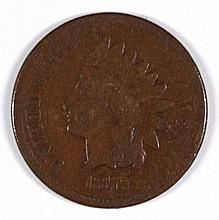 1877 INDIAN HEAD CENT VG/F
