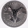 2014 CANADIAN PEREGRINE FALCON ONE OUNCE .9999 SILVER COIN, ( FIRST IN SERIES )