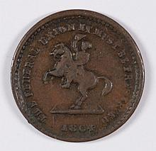 CIVIL WAR TOKEN, THE FEDERAL UNION IT MUST BE PRESERVED