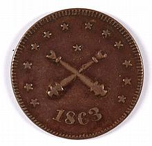 CIVIL WAR TOKEN, MILITARY NECESSITY