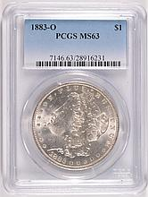 1883-O MORGAN SILVER DOLLAR, PCGS MS-63  WHITE!