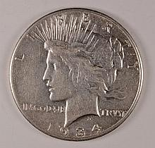 1934-S PEACE DOLLAR XF
