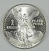 1983 MEXICAN LIBERTAD ONE OUNCE .999 SILVER COIN, GEM BU