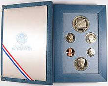 1987 U.S. PRESTIGE PROOF SET, FEATURING CONSTITUTION SILVER DOLLAR