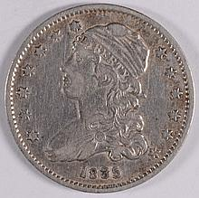 1835 CAPPED BUST QUARTER XF