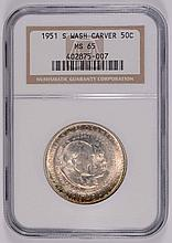 1951-S Washington/Carver Commen Half Dollar NGC MS-65