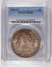 1884-O MORGAN DOLLAR PCGS MS-63
