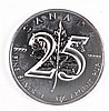 2013 25th ANNIVERSARY CANADIAN MAPLE LEAF  $5.00 ONE OUNCE .9999 SILVER COIN