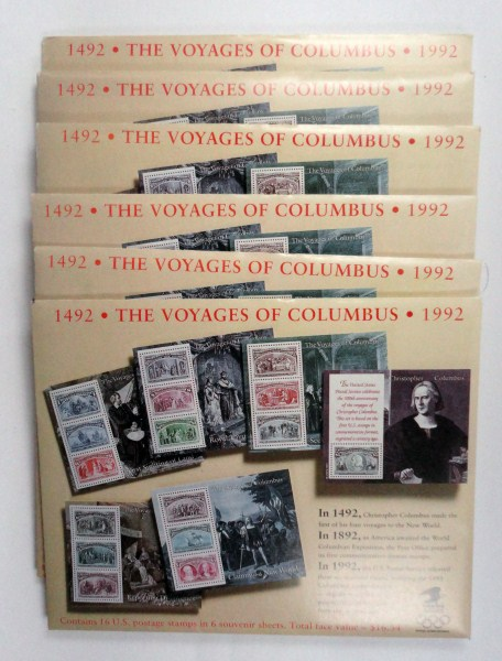 Lot of 6 1492-1992 The Voyages of Columbus Stamps by the U.S. Postal Service