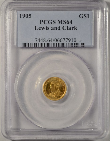 1905 Lewis and Clark $1 Gold PCGS MS64 Rare!