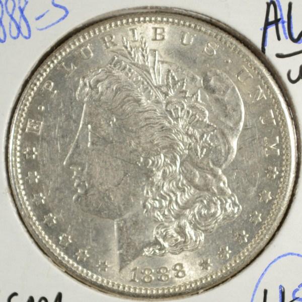 1888 S MORGAN DOLLAR AU/UNC NICE