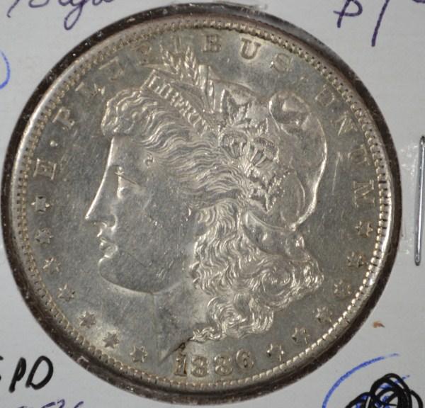 1886 S MORGAN DOLLAR AU NICE