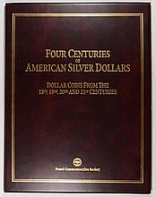 4 CENTURIES OF SILVER DOLLARS, 1793 8 ESCUDOS, 1879 MORGAN, 1923 PEACE, 2002 ASE