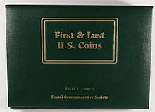 FIRST AND LAST ISSUE U.S. COINS IN U.S. POSTAL COMMEM. SOCIETY ALBUM, VERY NICE!