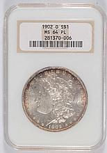 1902-O MORGAN SILVER DOLLAR NGC MS64PL