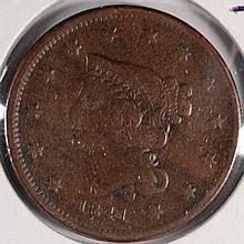 1841 LARGE CENT FINE