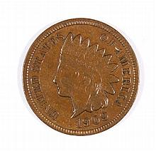 1909-S INDIAN HEAD CENT XF-40
