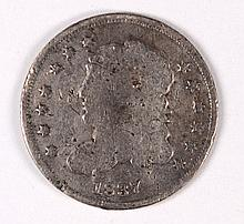 1837 BUST HALF DIME AG (DAMAGED)