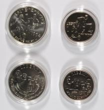 COMMEMS BOX/ COA: 1991 MT RUSHMORE 2 COIN BU SET; 1994 WORLD CUP 2 COIN BU SET
